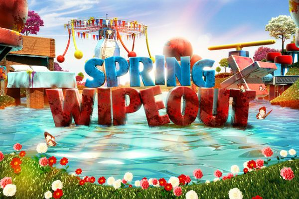 Spring wipe out - Το θεότρελο τηλεοπτικό παιχνίδι Wipe out ντύθηκε ανοιξιάτικα! Μη νομίζετε όμως πως αυτό σημαίνει ότι τα πράγματα έγιναν και πιο εύκολα